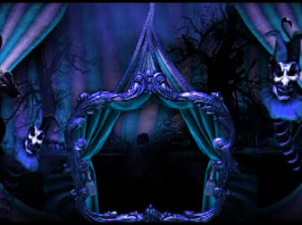 цирк : Circus tent decoration, creepy, blue