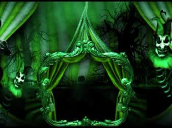 цирк : Circus tent decoration, creepy, green