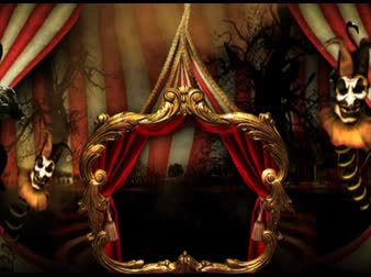 цирк : Circus tent decoration, creepy, orange