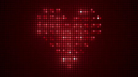 zaproszenie : heart made of light bulbs, Full HD. Valentines day background