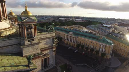 st isaac's cathedral : Historical palace building Lion palace in Saint-Petersburg aerial