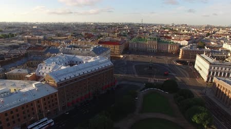 st isaac's cathedral : City center aerial in Saint-Petersburg