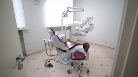 health insurance : Dental clinic professional console medical equipment in office Stock Footage