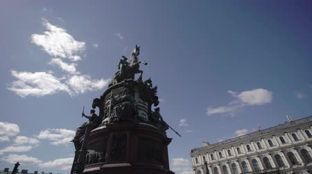 st isaac's cathedral : Statue at Isaacs square in Saint-Petersburg