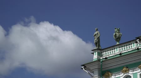 alexander column : State Hermitage in Saint-Petersburg at sunny day