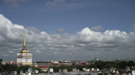 Admiralty in Saint-Petersburg Russia at sunny summer day Wideo