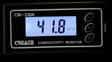 conductivity : SOCHI, RUSSIA - SEPTEMBER 22, 2012: Conductivity monitor on factory equipment