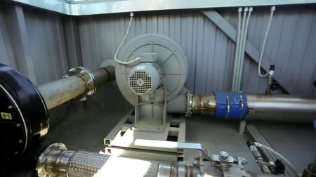 Pipeline on factory industrial machinery equipment