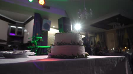 wed : Wedding celebration cake at the party