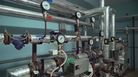 termostat : Modern heater system in big building