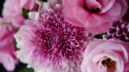 bouquets : bouquet of pink chrysanthemums and eustoma