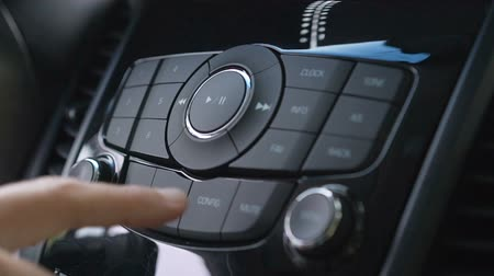 Driver using car audio stereo system