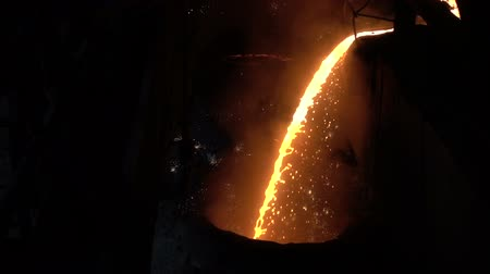 iron metal : the flow of liquid metal slow motion