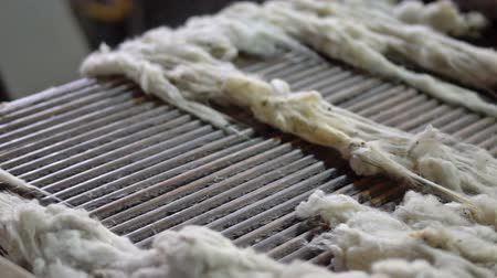 vesszőfonás : Wool washing and preparation for the production of tops 4
