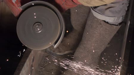 asphalt base : Grinding wheel. Grinding machine 2 Stock Footage