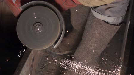 asphalt base : Work grinding wheel. Largly 2 Stock Footage