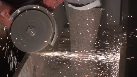 asphalt base : Work grinding wheel. Largly 7 Stock Footage