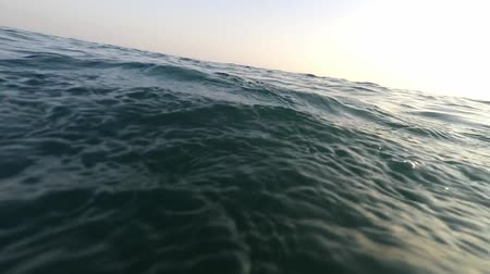 plavec : Hands of young man swimming in sea water at sunset with sky POV Dostupné videozáznamy
