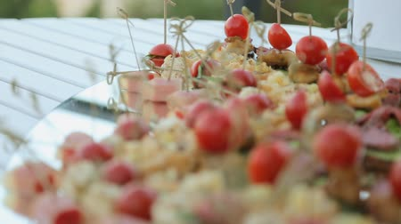gastronomie : Leckere Snacks auf Bankett Catering Videos