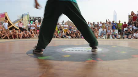 rua : Break Dance Performed by a Teenage Boy During The festival