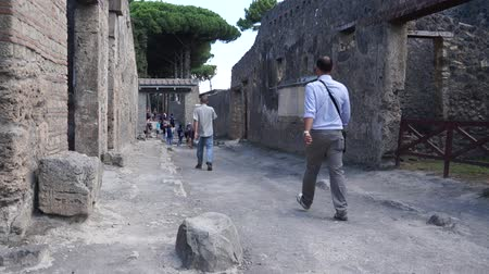 руины : Views of the streets in the ancient Italian city of Pompeii.