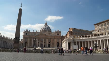 руины : Views from around the Vatican Стоковые видеозаписи