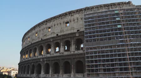 арена : Various angles of the roman Colosseum or Flavian Amphitheatre.