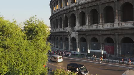vespasian : Various angles of the roman Colosseum or Flavian Amphitheatre.