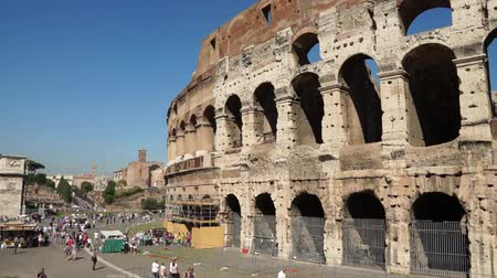 hypogeum : Various angles of the roman Colosseum or Flavian Amphitheatre.