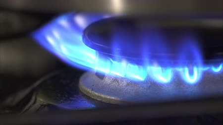 propane : This is 4K footage of a gas stove burner. Stock Footage