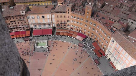 parke taşı : Scenes from Siena Italy Stok Video