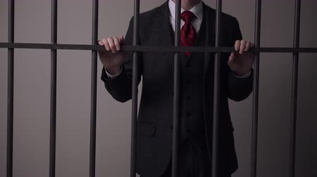 lawbreaker : A view of white collar criminal in prison Stock Footage
