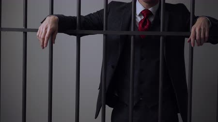 kajdanki : A view of white collar criminal in prison Wideo