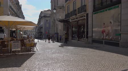 kabely : Typical scene for visitors to Lisbon Portugal.