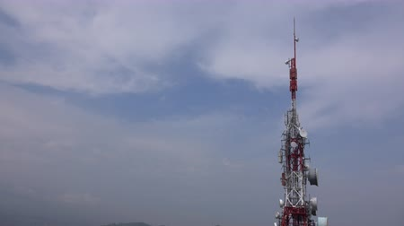 transmit : View of a radio tower near Bilbao, Spain