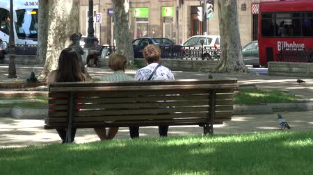 companionship : A view of life in and around Areatzako Pasealekua Park in Bilbao, Spain Stock Footage