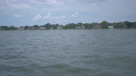 plac zabaw : Low angle coastal view of the Bellport NY marina