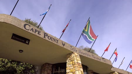 The sign and entrance of the visitors center at the Table Mountain Cape of Good Hope
