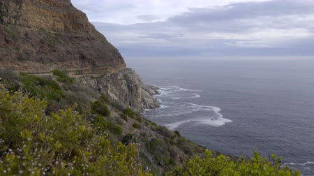 View of the jagged coastline near Hout Bay Stock Footage