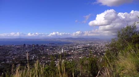 Scene of a beautiful day in Cape Town Stock Footage
