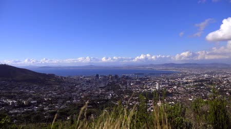 A right pan over Cape Town Stock Footage