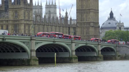 brexit : Scene as buses crossing over the river near Big Ben