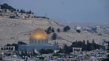 wailing : Day to night time lapse of the Dome of the Rock in Jerusalem