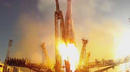 mg : Launch of space appointment of Russian rocket Union mg Stock Footage