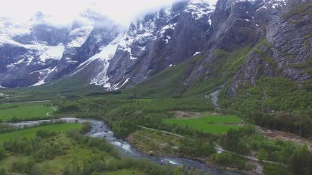 yerler : beautiful nature of Norway Stok Video
