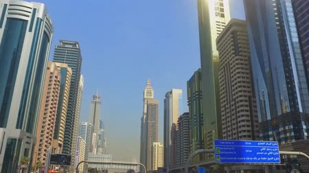 khalifa : View of a Dubai face from a moving car.