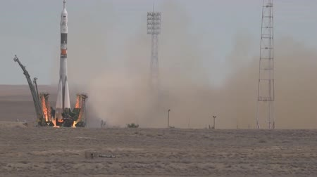 rockets : Russian Soyuz-U missile with Progress TGK Starts from Baikonur Cosmodrome (Kazakhstan)