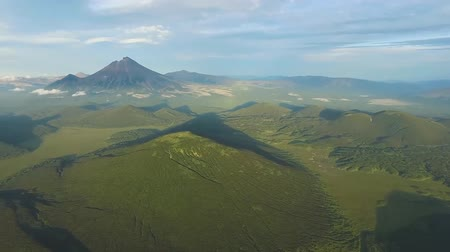 kámen : View from helicopter to the valley of volcanoes on Kamchatka