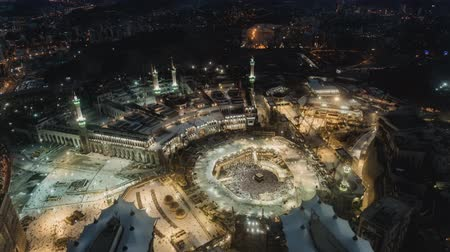 peregrino : Mecca pilgrimage to the sacred festival (time-lapse) view from above