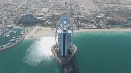 impressive skyline : view of the hotel, the sail (Burj Al Arab)